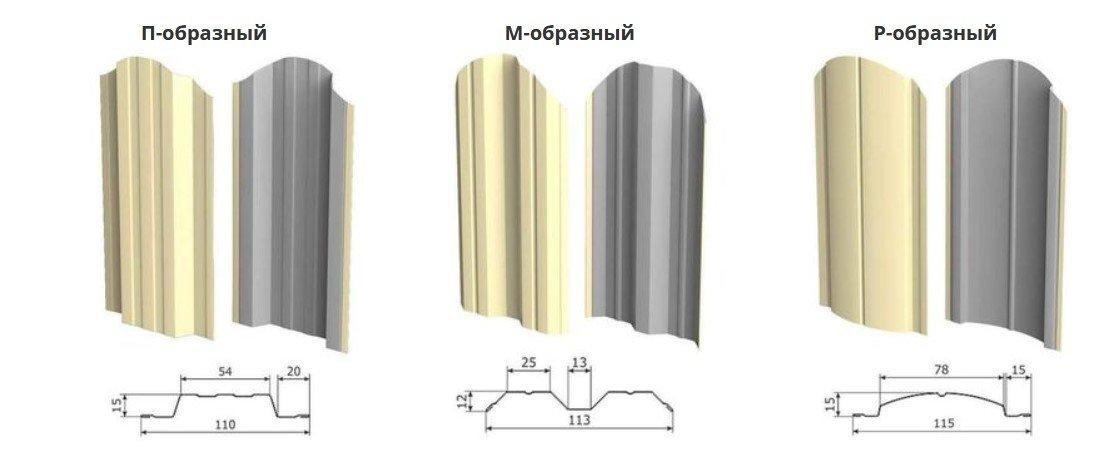 Виды металлического штакетника