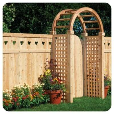 Декоративный забор для сада