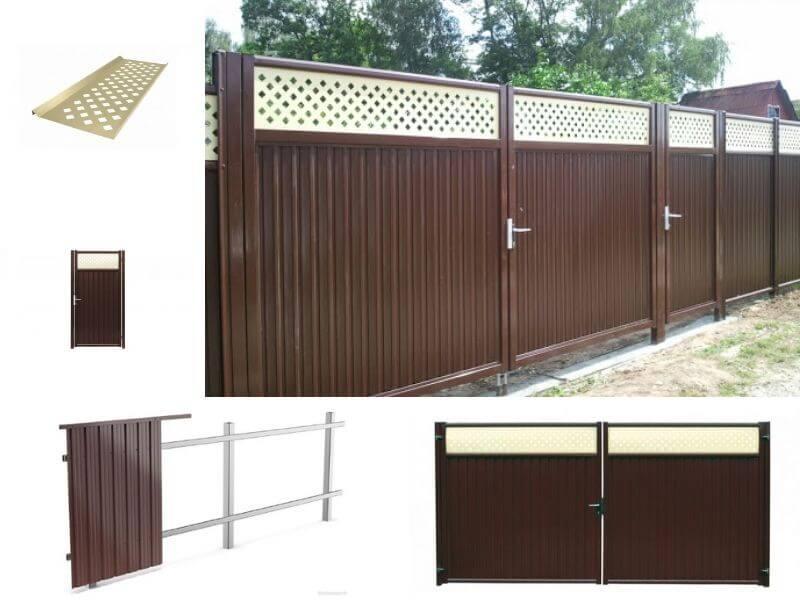Модульный забор Гранд Лайн коричневый