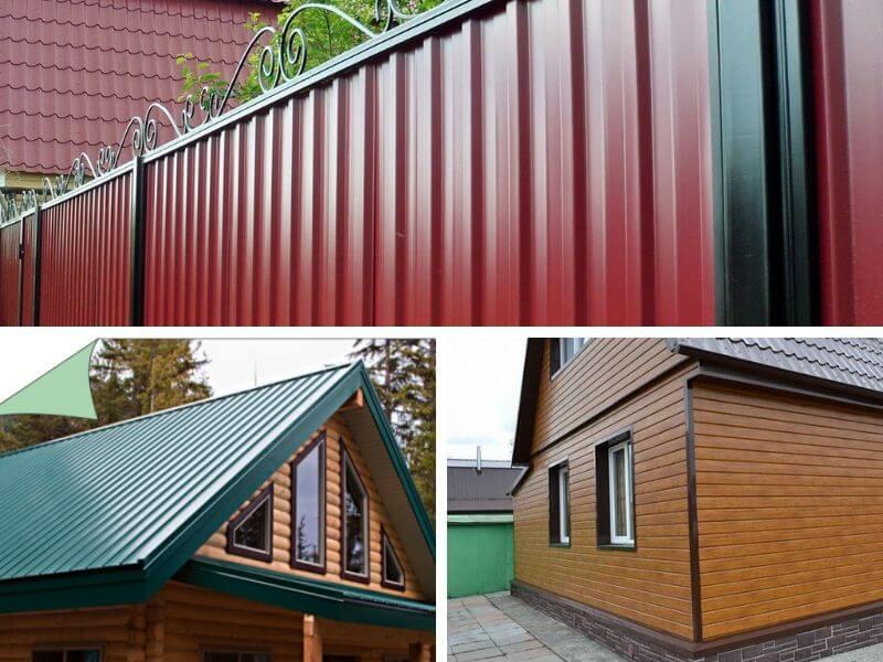 Забор, крыша, фасад из Гранд Лайн C20B