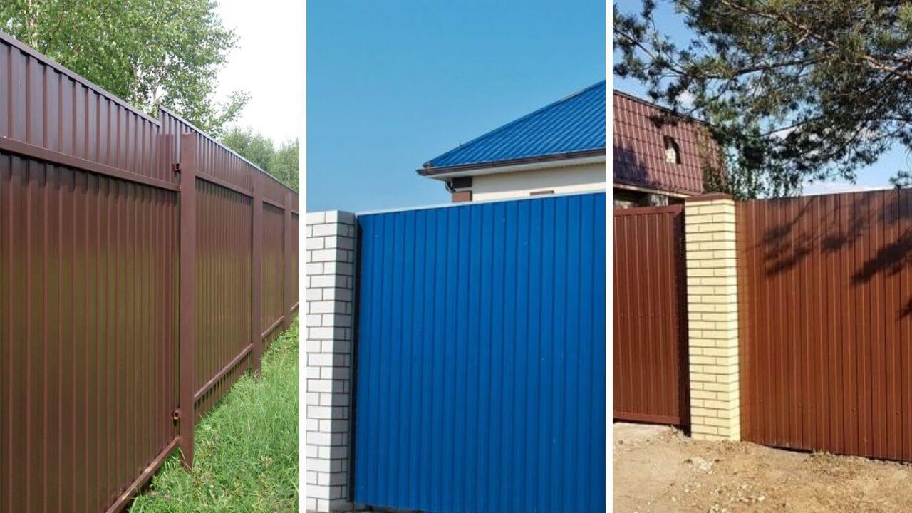 Синий, коричневый, красный забор из c8a