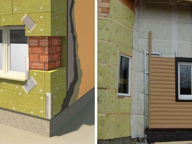 Колодезный способ утепления стен